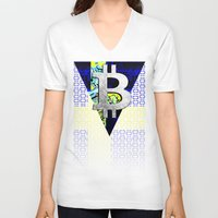 sweden V-neck T-shirts featuring bitcoin sweden by seb mcnulty