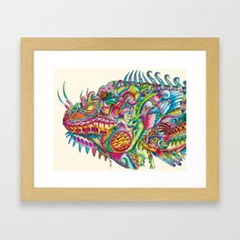 Iguana in Armor Framed Art Print