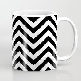Classy Black White Chevron Zigzag Pattern Coffee Mug