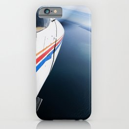Cessna in Flight, Propeller, Lakeshore iPhone Case