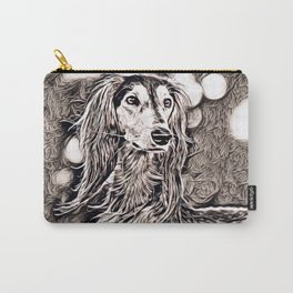 Rustic Style - Dog (greyhound) Carry-All Pouch