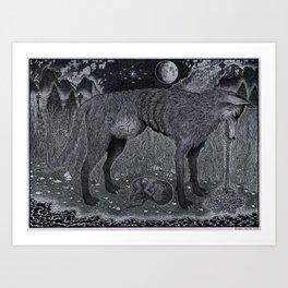 The Ominous Moon Art Print