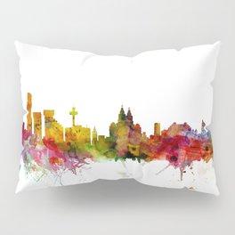 Liverpool England Skyline Cityscape Pillow Sham