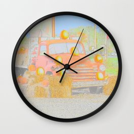Old Classic Truck Water Color Wall Clock
