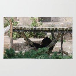 Lazy Bear in Hammock Rug