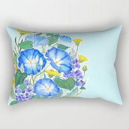 Morning Glory Ikebana Rectangular Pillow