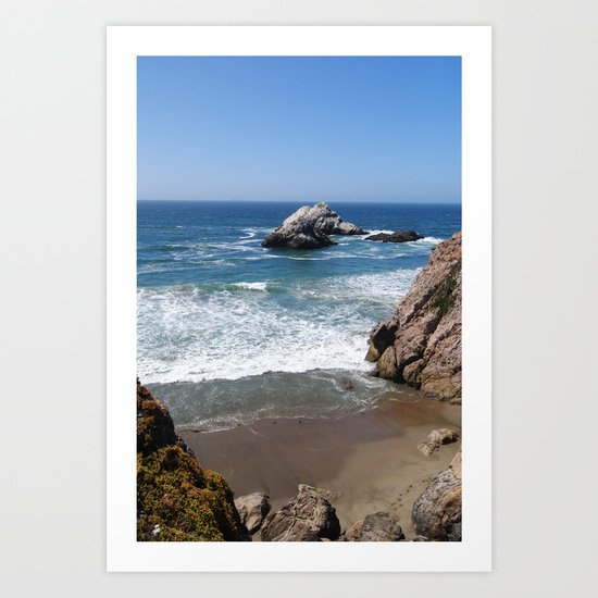 Land's End Beach Art Print