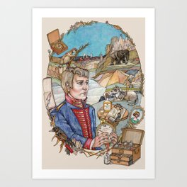 The Melancholic Meriwether Lewis Art Print