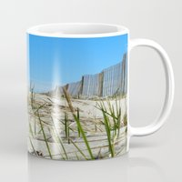 cape cod Mugs featuring Cape Cod Dunes by Doreen Calvano Art & Photography