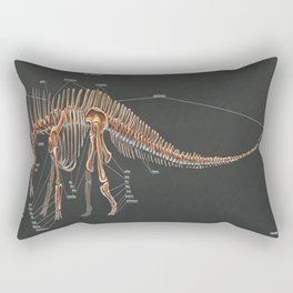 Amargasaurus Skeletal Study Rectangular Pillow
