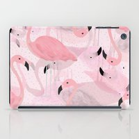 flamingo iPad Cases featuring Flamingo Pattern by Georgiana Paraschiv