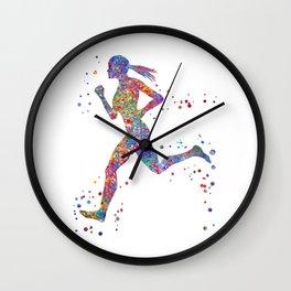 Running woman Wall Clock