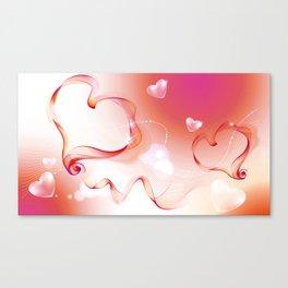 Smokey Hearts Canvas Print