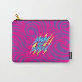 IRON of STEEL Pink on Purple  Carry-All Pouch