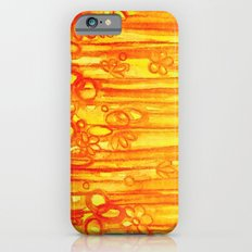SUMMER SENTIMENTS - Bright Abstract Floral Garden Bold Summer Yellow Red Orange Flowers Painting iPhone 6s Slim Case