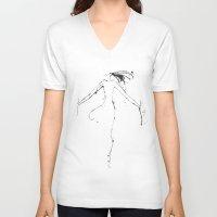 shiva V-neck T-shirts featuring Shiva I by Simi Design