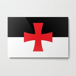 Knights Templar Flag - High Quality Metal Print