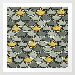 Deco Wafers Art Print