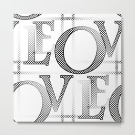 Jumbled Love Metal Print