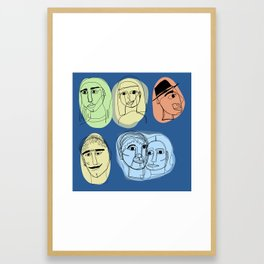 all my friends together Framed Art Print