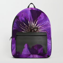 Purple Flower Dark Metallic & Damask Backpack