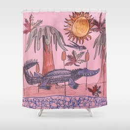 Swamp Hunt Shower Curtain