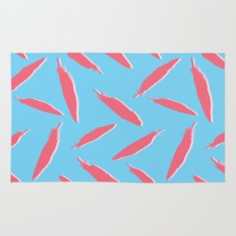 Flamingo Silhouette Bird Feathers Seamless Vector Pattern Background Rug