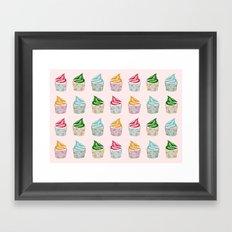 Cute as a multicoloured cupcakes! Framed Art Print