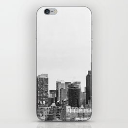 The New York Cityscape City (Black and White) iPhone Skin