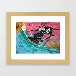 Sailing Skeleton  Framed Art Print