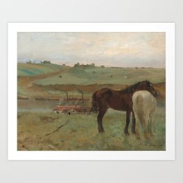 Horses in a Meadow Art Print