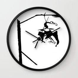 Vulture in the lamppost Wall Clock