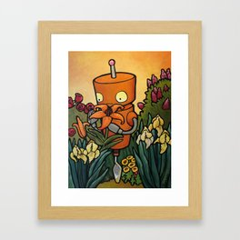 Robot - The Impossible Garden Framed Art Print