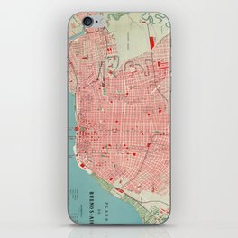 Vintage Map of Buenos Aires Argentina (1888) iPhone Skin
