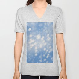 Blue Ombre Unisex V-Neck