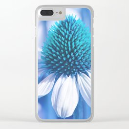 Coneflower blue 11 Clear iPhone Case