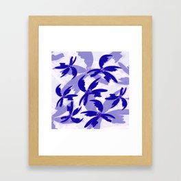Windy Palm Trees Framed Art Print