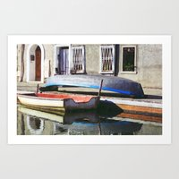 boats Art Prints featuring Boats by Vivian Fortunato