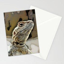 nosy lizard Stationery Cards