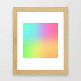 Blended Rainbow Framed Art Print