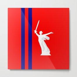 flag of Volgograd Metal Print