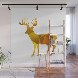 Deer - Gold Geomatric Wall Mural
