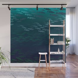 Fish Under The Storm Wall Mural