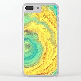 Agate rock Clear iPhone Case