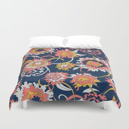 Bold Chinoiserie Floral - Limited Color Palette 2019 Duvet Cover