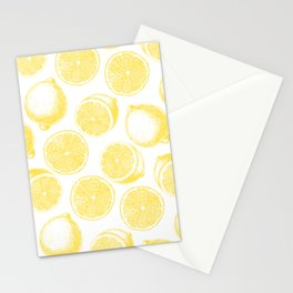Hand drawn lemon pattern Stationery Cards