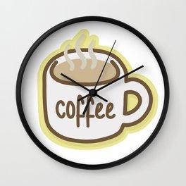 Coffee Cup Wall Clock