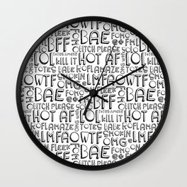 Laugh Out Loud Millennial pattern Wall Clock