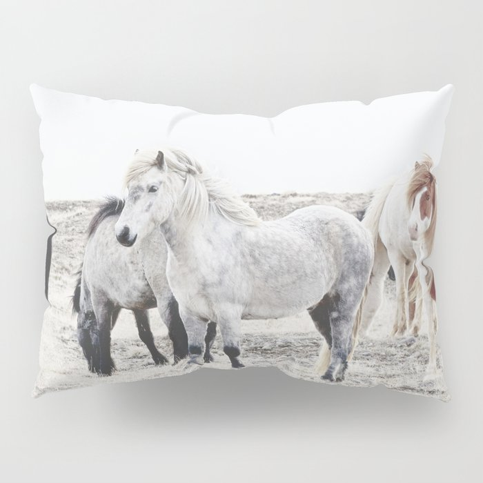 WILD AND FREE  1 - HORSES OF ICELAND Pillow Sham
