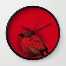 Little Red Bird Wall Clock